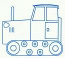 履带式拖拉机简笔画