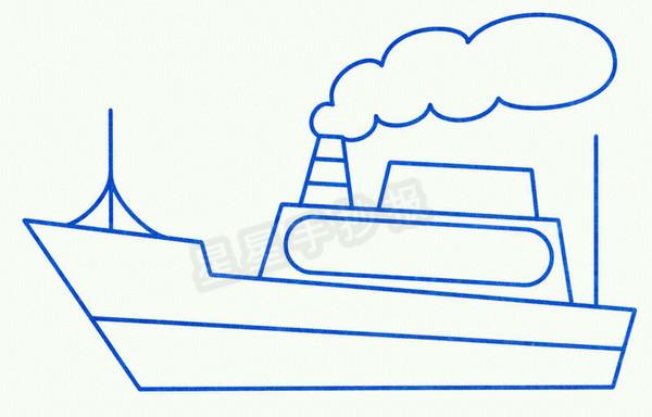 游艇简笔画