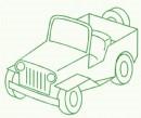 越野车简笔画怎么画