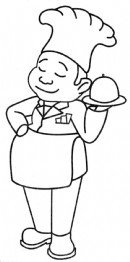 小厨师简笔画