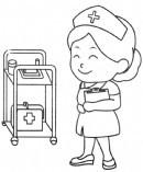 护士简笔画怎么画