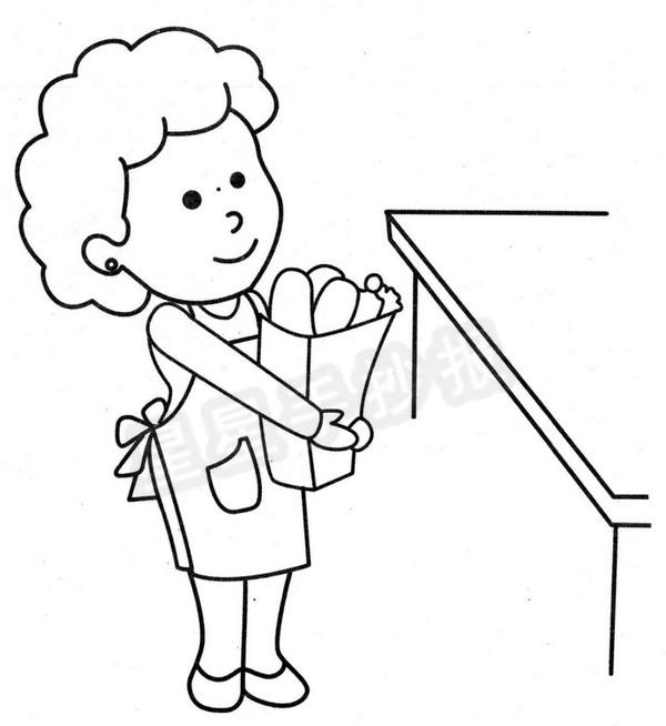 妈妈简笔画图片教程