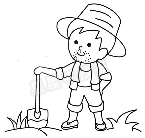 农民简笔画图片