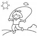 小女孩跳绳简笔画