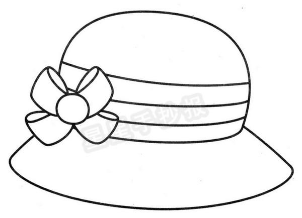 草帽简笔画