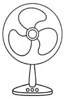 电风扇简笔画图片步骤教程