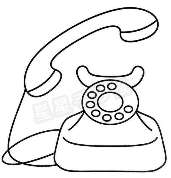 电话简笔画图片步骤教程