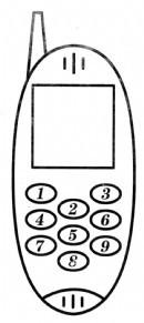 老式手机简笔画