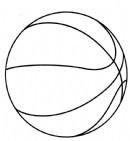 篮球简笔画图片教程