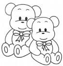 玩具熊简笔画