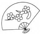折扇简笔画怎么画