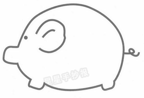 猪的简笔画