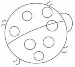 瓢虫简笔画图片教程