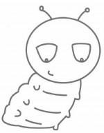 青虫简笔画
