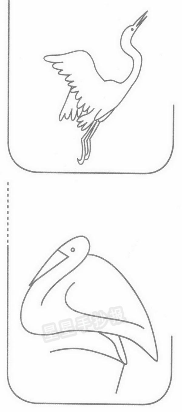 白鹭简笔画图片画法