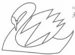 天鹅简笔画图片画法