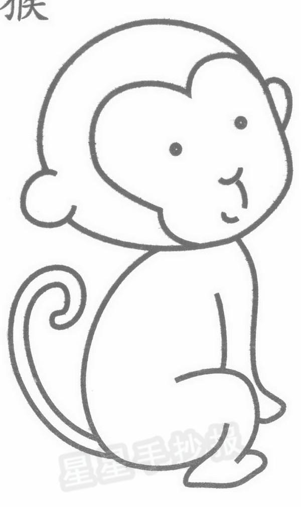 猴子简笔画