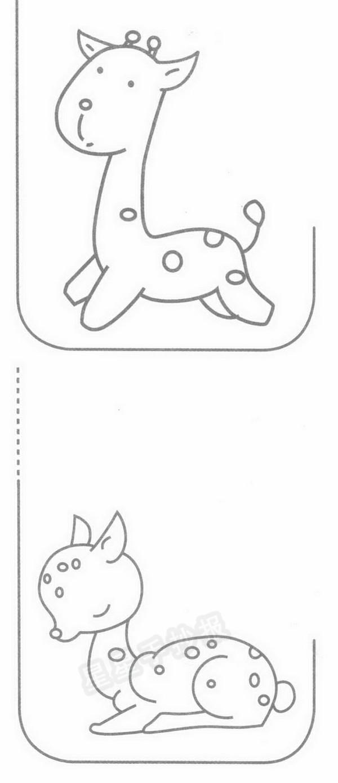 梅花鹿简笔画