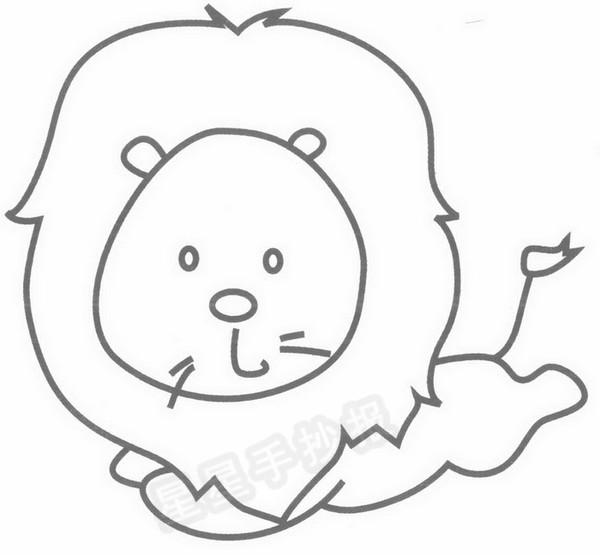 狮子简笔画图片