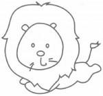 狮子简笔画图片教程
