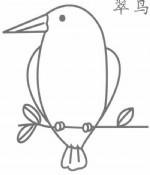 翠鸟简笔画怎么画