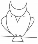 猫头鹰简笔画图片步骤教程
