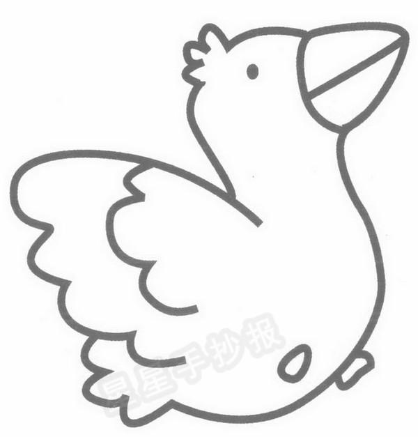 乌鸦宝宝简笔画