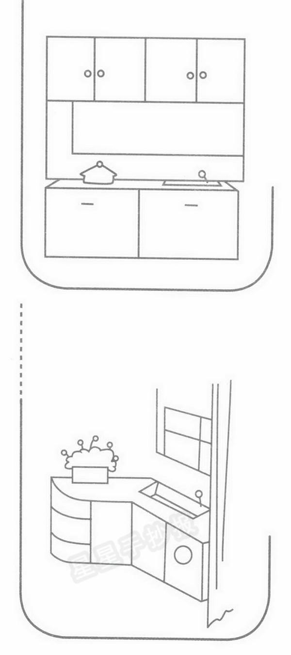 厨房简笔画示例图片