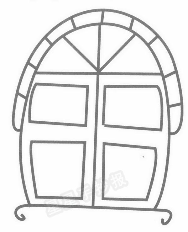 窗户简笔画