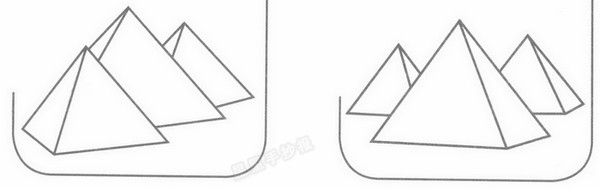金字塔简笔画