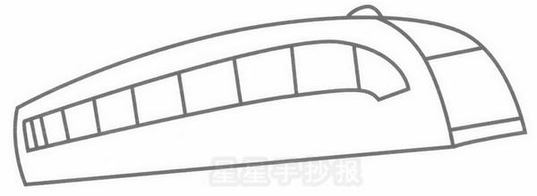 磁悬浮列车简笔画