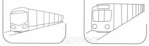 地铁简笔画