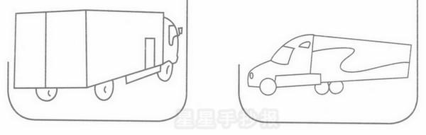 冷藏车简笔画