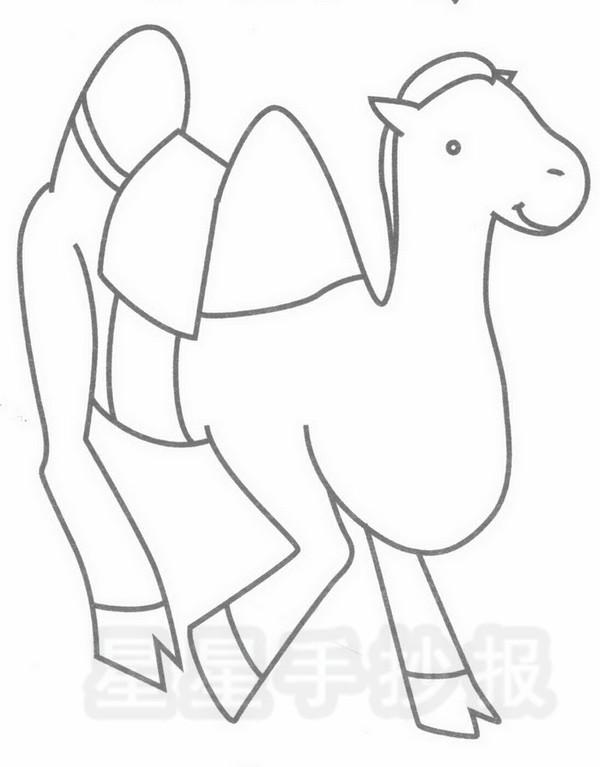 骆驼坐骑简笔画