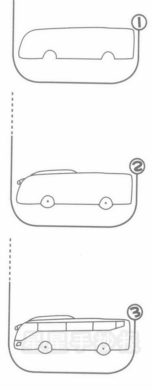 旅游车简笔画