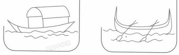 渔船简笔画