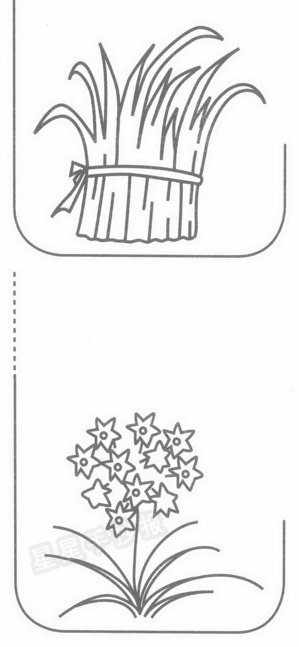 韭菜简笔画