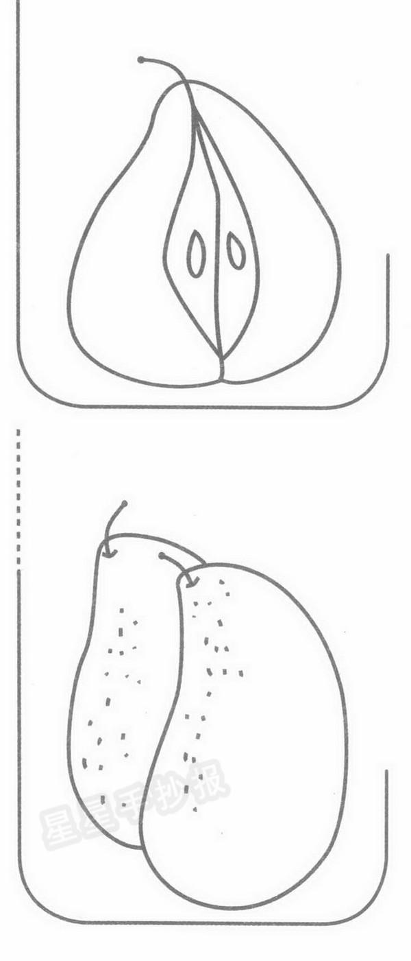 梨简笔画简单画法