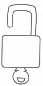 锁和钥匙简笔画怎么画