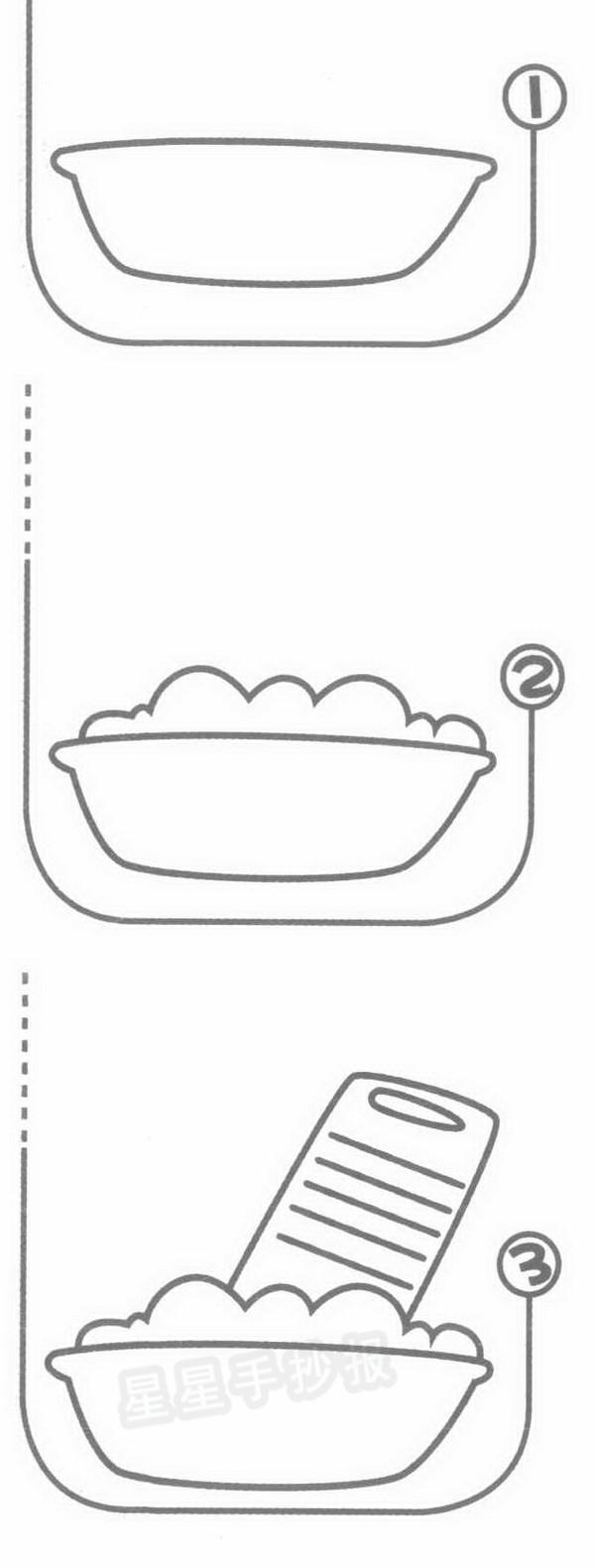 洗衣板简笔画