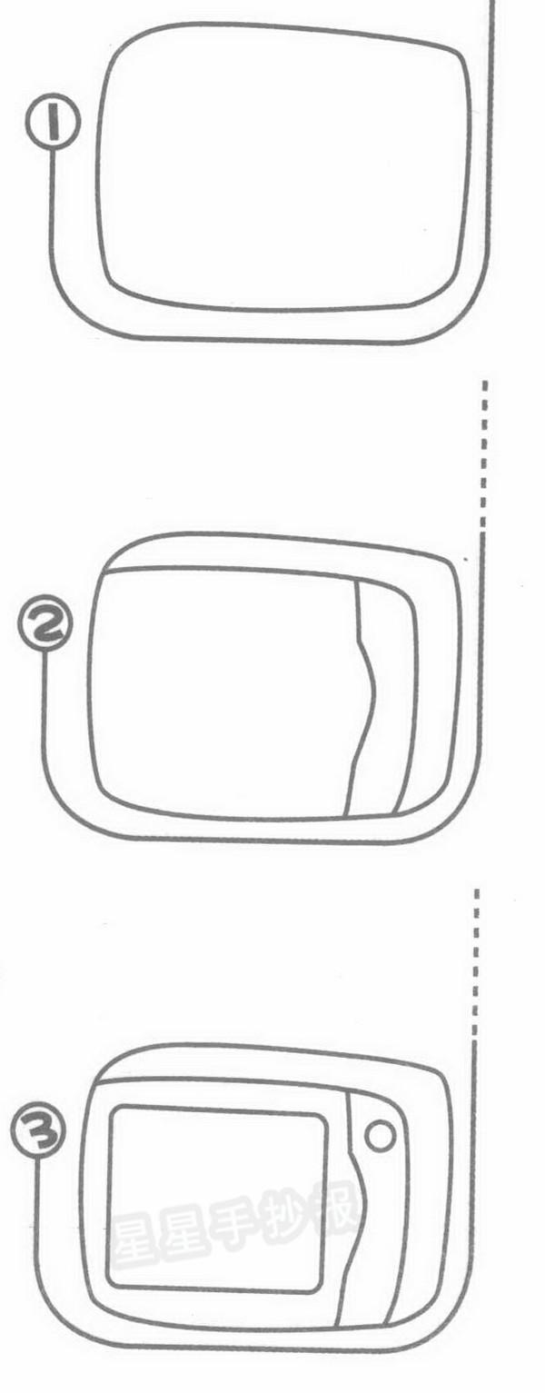 微波炉简笔画图片教程