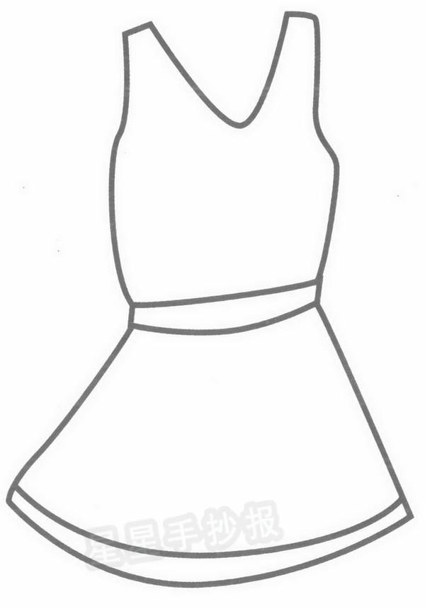 连衣裙简笔画