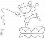 渔童简笔画