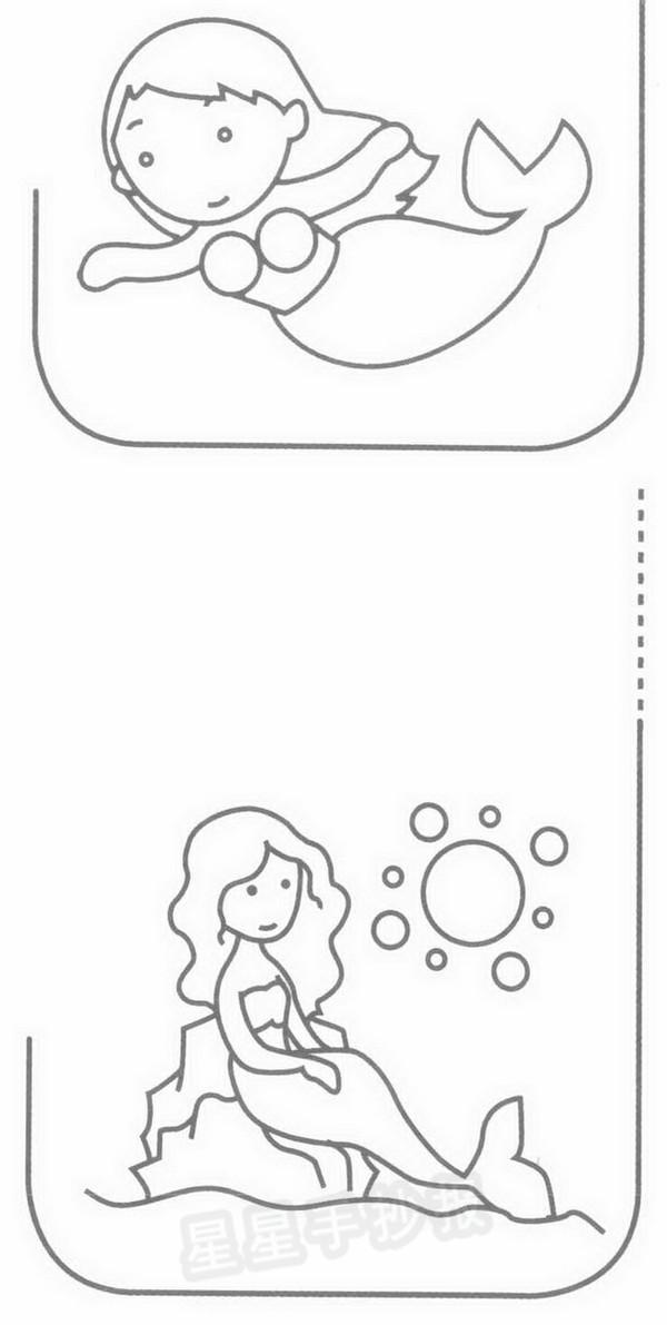美人鱼简笔画简单画法