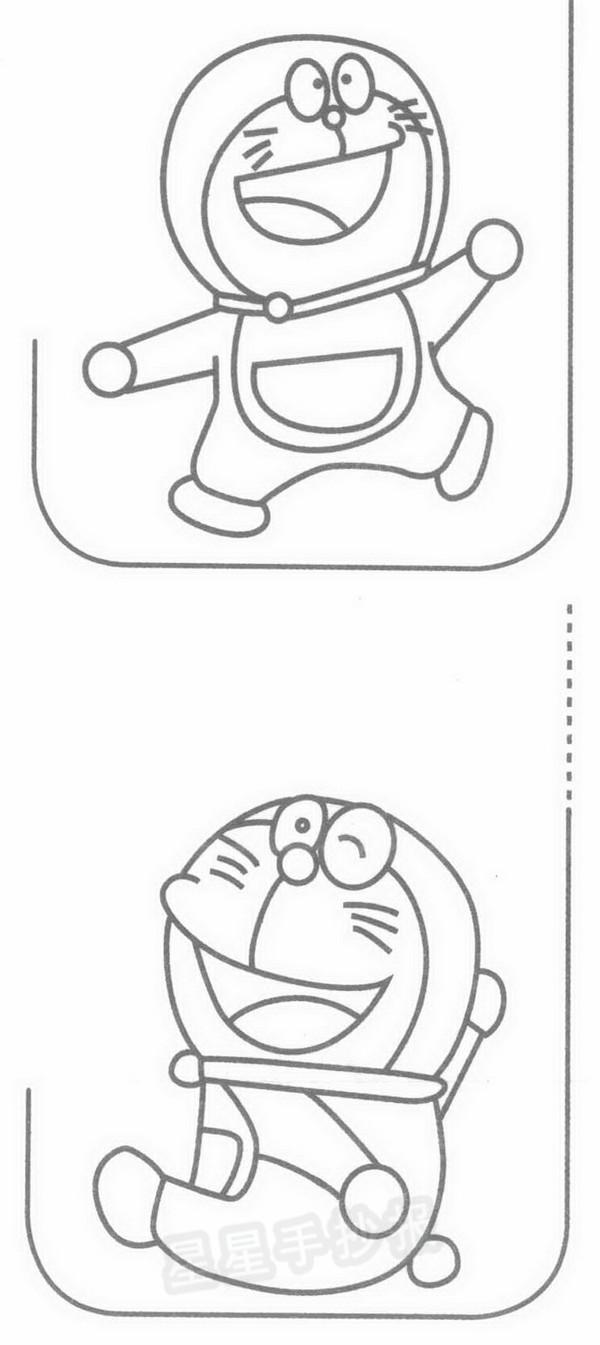 机器猫简笔画