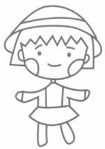 樱桃小丸子简笔画怎么画