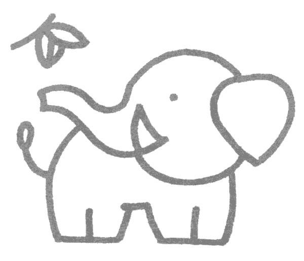 简单的大象简笔画