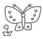卡通蝴蝶简笔画