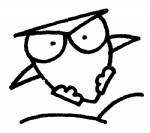 卡通猫头鹰简笔画
