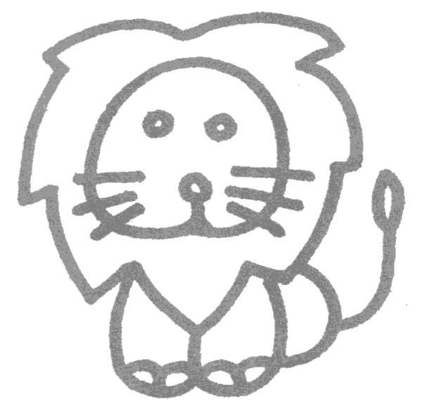 狮子儿歌和简笔画教程